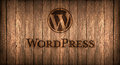 Italy, november 2016 - Wordpress logo printed on fire on a wood