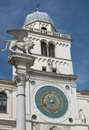 Italy, Padua: Ancient clock tower Royalty Free Stock Photos