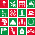 Italy pictograms Stock Images