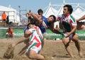 Italy plażowy międzynarodowy rugby Fotografia Royalty Free