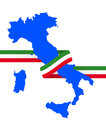 Italy ribbon illustration of shape with tricolore Stock Photography