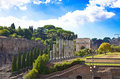 Italy.Rome.Ancient Ruinen des römischen Forums Stockbilder