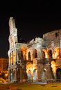 Italy. Rome ( Roma ). Colosseo (Coliseum) at night Stock Photography