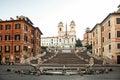 Italy Rome Spanish Steps Royalty Free Stock Photo