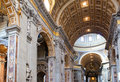 Italy.Rome.Vatican.St Peter s Basilica.Indoor view Royalty Free Stock Photo