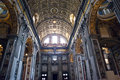 Italy. Rome. Vatican. St Peter's Basilica. Indoor view Royalty Free Stock Photo