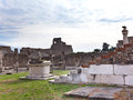 Italy ruins of pompey cityscape in a sunny day Stock Photos