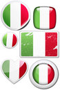 Italy - Set of stickers and buttons Royalty Free Stock Photo