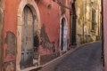 Italy sicily the old streets of acireale catania Stock Photos