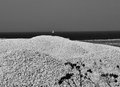 Sicílie more bílý kámen a plachta