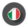 Italy sticker with flag.