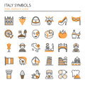 Italy Symbols Royalty Free Stock Photo