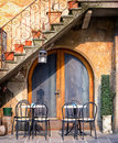 Italy tables and chairs at a bistro in Stock Image