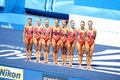 ITALY TEAM Syncronised swimming  ROMA 09 Royalty Free Stock Image