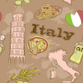 Italy travel grunge card Stock Photography