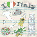 Italy travel grunge card Royalty Free Stock Photos