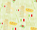 Italy travel seamless pattern Royalty Free Stock Photography