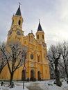 Italy, Trentino Alto Adige, Bolzano, Brunico, view of the Parish church of Santa Maria Assunta