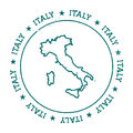 Italy vector map.