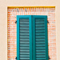 italy  venetian blind     in    europe    old architecture and Royalty Free Stock Photo