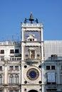 Italy. Venetian tower clock Stock Photo