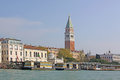 Italy venice bell tower of san marco st mark s campanile di in italian is the basilica in located in the Royalty Free Stock Photos