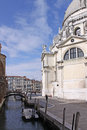 Italy venice the cathedral of santa maria della salute details is a roman catholic church and minor basilica located at punta Royalty Free Stock Photo