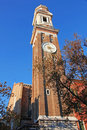 Italy venice chiesa dei santi apostoli church clock tower Stock Photography