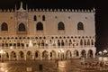 Italy. Venice. Doge's Palace at night Royalty Free Stock Photo