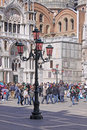 Italy venice san marco square piazza san marco often known in english as st mark s is the principal public of where it is Stock Photo