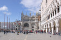 Italy. Venice. St Mark's Basilica and Doge Palace Royalty Free Stock Photo