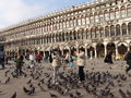 Italy venice st mark s square san marco square and tourists is one of the six sestieri of lying in the heart of the city as the Stock Photography