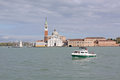 Italy venice veiw at the cathedral of santa maria della salute from boat is a roman catholic church and minor basilica located Stock Images
