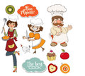 Items chefs collection isolated on white background vector illustration Royalty Free Stock Photo