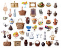 Items dish on a white background Royalty Free Stock Photography