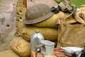 Items displayed from a World War 2 soldier Royalty Free Stock Photo