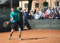 Itf future tennis tournament vercelli alberto brizzi winner in Royalty Free Stock Photo