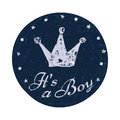 Its a boy label. Baby announcement card. Royalty Free Stock Photo