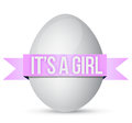 Its a girl egg illustration design over white background Royalty Free Stock Photography