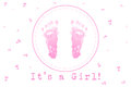 Its a Girl foot paint watercolor