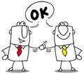 Its ok two businessmen shaking hands Stock Photography
