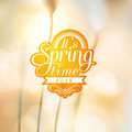Its spring time typographic design with colourful colorful background eps compatibility required Stock Images