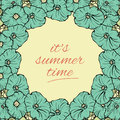 Its Summer time wallpaper with flowers, fun, party, background, vector Royalty Free Stock Photo