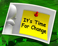 Its time for change photo means revise reset or transform aiits o r Stock Photos