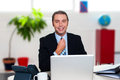 Its time to start my work day. Cheerful boss Stock Image