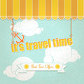 Its travel time vintage background about summer Stock Images