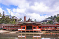 Itsukushima shrine at miyajima japan Royalty Free Stock Photo