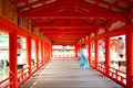 Itsukushima Shrine Monk Royalty Free Stock Image