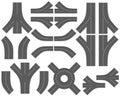 Ð¡ity map creation kit (DIY).  Part 3. Roads Royalty Free Stock Photo