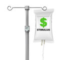 Iv bag economic stimulus illustration isolated on white background d render Royalty Free Stock Photo